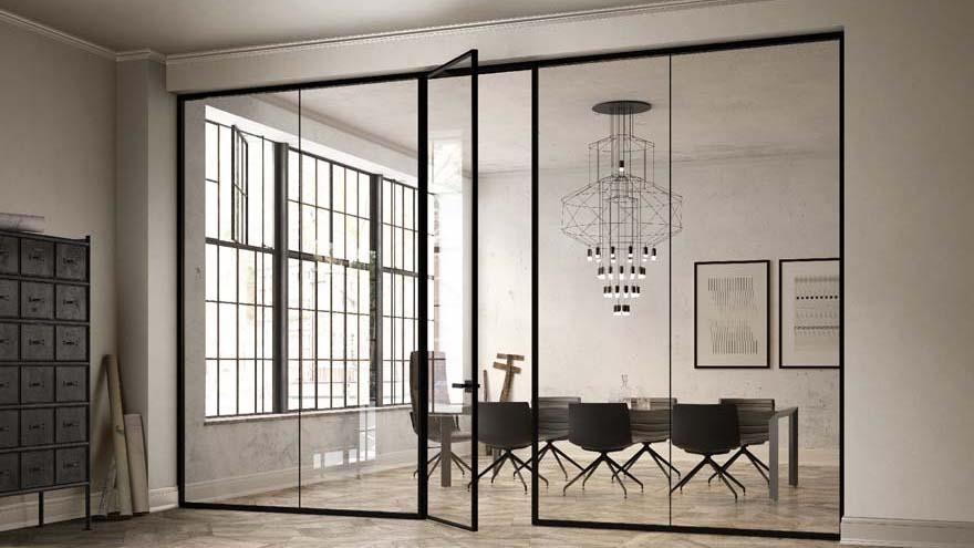 Kast Als Scheidingswand : Bureau kast met schuifdeuren scheidingswand in opaline glas